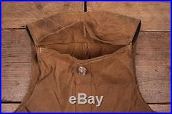 Mens Vintage CC Filson Co. Brown Tin Cloth Cotton Hunting Vest Large 42 XR 8397
