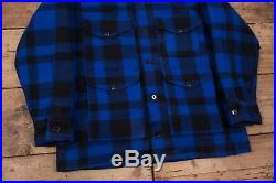 Mens Vintage Filson 80s Blue Mackinaw Cruiser Hunting Jacket USA XL 46 R11291