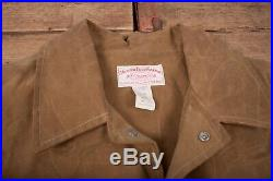 Mens Vintage Filson Brown Tin Cloth Field Workwear Jacket XXL 50 R17295