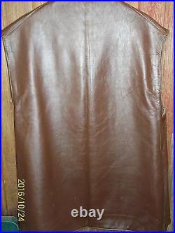 Mens Vintage H Gurman Bruxelles Jerkin/Vest Leather Wool Brass Military Size 3