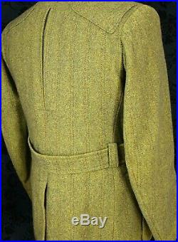 Mens vintage Full Derby Tweed Norfolk Shooting Jacket aquabacta Sz 40 Medium