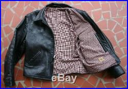 Monarch Prewar Model Half Belt Goat Or Horse Hide Leather Jacket Build