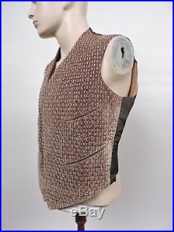 Museum Quality Edwardian 1907 Mens Silk Velvet Waist Coat W Embroidery