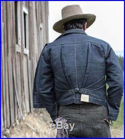 NWT Men Levis Vintage Clothing LVC 1880s Triple Pleat Jean Jacket XL
