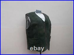 Natural sheepskin waistcoat mens vest shearling gilet lammfell weste herren