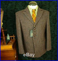New Mens Harris Tweed Bespoke Jacket Blazer Vintage Style Size 40 Medium