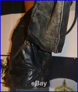 Original Old 1930s German Flight Leather Jacket Motorcycle Racing Vest 1940s