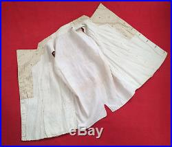Original Vintage Circa 1820s Double Breasted Beige Stripped Waistcoat Vest