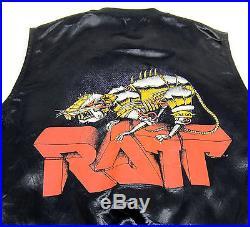 Original Vtg 80s Ratt Heavy Metal Satin Vest Og Tour Jacket Dokken Glam Sex Hair