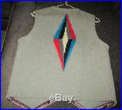 Ortega's Chimayo New Mexico 100% Wool Vest Size 36 with Concho Buttons Used