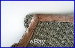 Ortegas Chimayo NM Hand Woven Vest 100% Wool Gray Indian Blanket Vintage MEDIUM