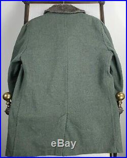 PENDLETON USA Size Medium Mens Virgin Wool Faux Fur Lined Parka Long Coat Jacket