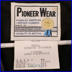 PIONEER WEAR Vtg 80s Genuine Calf Skin Leather Western Cowboy Vest Men's 44 M