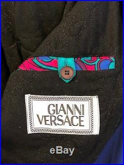 Pre-Death RARE Gianni Versace Jacket Rayon Silk Blend EU50US40 Med Italy