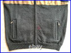 RARE Filson Men's Guide Vest Large Tin Cloth Tan Wool Knit Forest Green Vtg Zip
