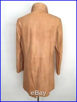 RARE Jil Sander by Raf Simons Runway Camel Leather Coat-Trench Sz. IT50 US40