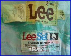 RARE Lee Vintage 60s Deadstock Vest Marble Print NOS LEESET Western Yoke 44R