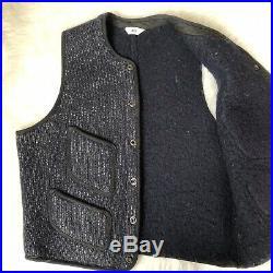 RARE Vintage 1930s Browns Beach Jacket Navy Blue Salt & Pepper Work Vest Sz 40
