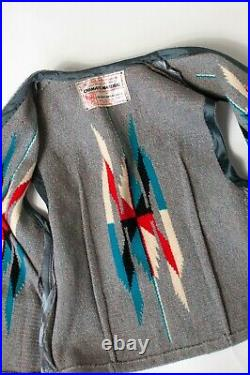 RARE Vintage 1940s Chimayo Hand Woven Wool Vest Southwest Arts & Crafts Small