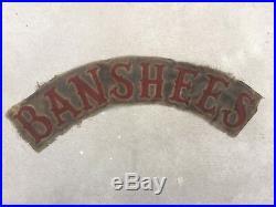 RARE Vintage 60s BANSHEES MC Motorcycle Club TOP ROCKER PATCH