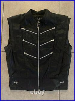 RARE Vtg 80s BUGLE BOY Space Age breakdance Parachute Zipper Vest M new wave