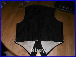 Rare 1925 Ranken & Co Bespoke Black Evening Dress Waistcoat Sz 36