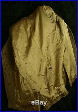Rare Design Mens Vintage 1960's Harris Tweed Overcoat Pea Coat Size 40 Medium