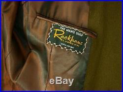 Rare Genuine Harrods 1960's 60's Crombie Coat Overcoat Mens Vintage 40 Medium