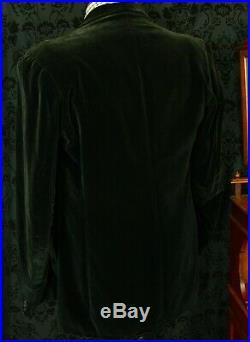 Rare Mens Harrods Vintage Velvet Smoking Jacket Blazer 1920's 30'S 40 Med Slim L