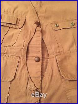 Rare Vintage 1930s 1940's half moon Hunting Fishing Vest size 40 41