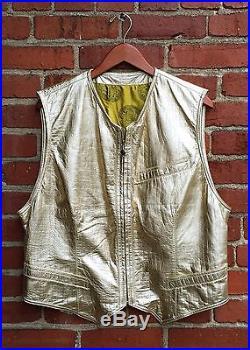 Rare Vintage Versace Gold Leather Men's Vest