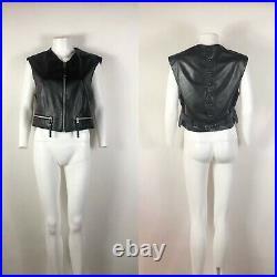 Rare Vtg Jean Paul Gaultier Homme Black Leather Vest M