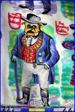 SALE Rare Vintage VERSACE Jeans Couture DOG Print Cotton Flannel Vest L