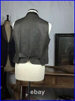 Silk Antique Waistcoat Victorian Vest Vtg Steampunk Waistcoat 19th century