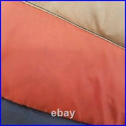 Ski Daddle Vintage 70's Medium Down Striped Puffer Vest Mens Brown fowl flaw
