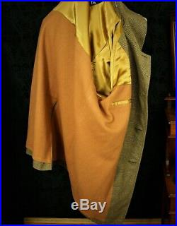 Superb New Vintage Invertere Tweed Country Coat Overcoat Size 46 XL Extra Large