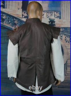 Thigh Length Leather Jerkin Vest Historical Reenactment