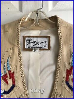 Tony Alamo Of Nashville Fringed Vest Mens