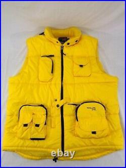 Triple 5 Soul Yellow Puffer Vest Men's Size XXL Skiing Snowboarding Nice