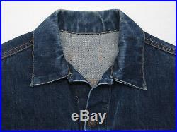 True VINTAGE 60s Levi's 2 Pocket Big E Type III Denim Jean Jacket 42 USA SUPER