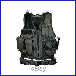 UTG 547 Gilet tactique Style agent de police Noir