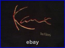 VINTAGE, 1990s URBAN STREETWEAR, KARL KANI BLUE DENIM VEST, EXCELLENT COND