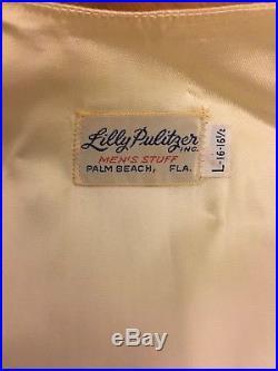 VINTAGE Lilly Pulitzer MENS STUFF Yale Handsome Dan Bulldog Corduroy Vest