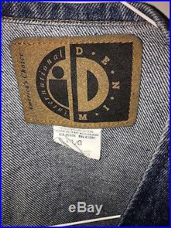 VINTAGE Pearl Jam 1994 Promo Denim Vest Chicago NBA Logo Mookie Blaylock