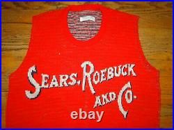 VINTAGE VEST SWEATER Sears, Roebuck and Co Sz. M