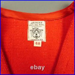 VTG 1950s Ortegas Woven Wool Vest Size 42