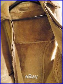 VTG Abercrombie & Fitch / Sawyer of Napa California Suede Vest / Shearling Sz M