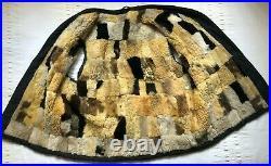 VTG FRENCH WORK Vest Waistcoat Lined Sheepskin CHORE WORKER sleeveless jacket