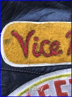 VTG Motorcycle Car Club MC Racing Vest Street Racers Hot Rod Biker Harley Jacket