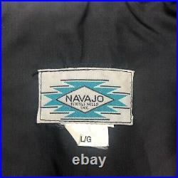 VTG Navajo Textile Mills Wool Vest Sz L Made In USA Multicolor